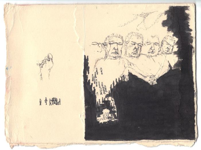 """Sleeper"", 2010, Nadia Locke, ink on cotton paper"